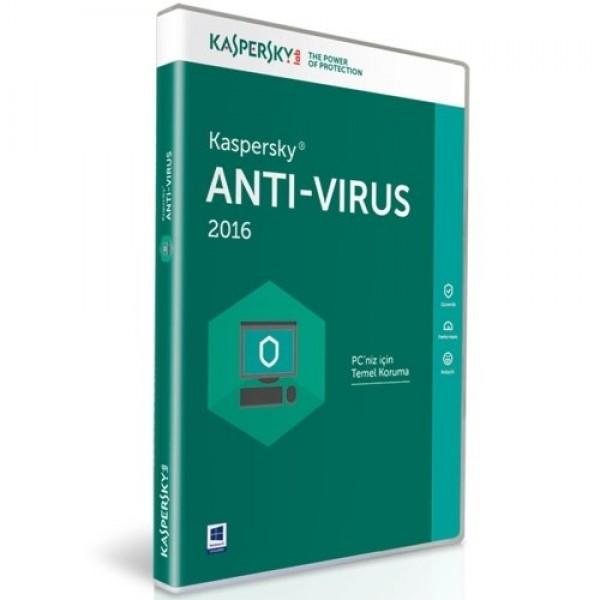 Kaspersky Antivirüs 2016 1 Kullanıcı DVD ...