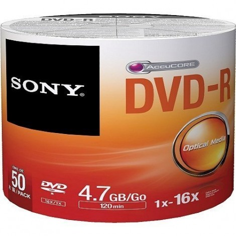 SONY DVD-R 4.7GB 50Lİ SRINK 50DMR47SB